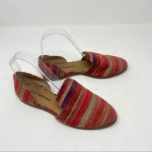 Lucky brand striped textured flats size 6,5 US